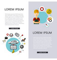 flat car service infographic poster set vector image