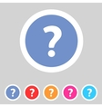 Flat game graphics icon question vector image