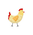 flat hand drawn chicken isolated vector image vector image