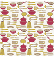 food vintage wallpaper vector image
