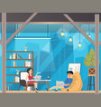 freelancer work in casual openspace coworking vector image vector image
