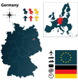 Germany and European Union map vector image vector image