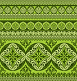 green flower ornament vector image vector image