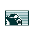 group house green stripe vector image