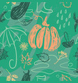 hand drawn autumn seamless pattern vector image vector image