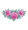 hand drawn floral arrangement with roses and vector image vector image