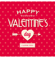 Happy valentines day card retro vintage vector image vector image