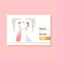 lesbian couple getting married vector image