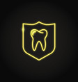 neon teeth protection icon in line style vector image