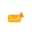 notifications bell mail graphic icon design vector image