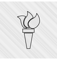 olympic flame design vector image vector image
