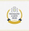 Photography Logo Design Template Retro Badge vector image vector image