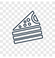 piece of cake concept linear icon isolated on vector image