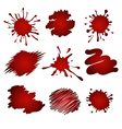 red splatters vector image