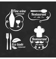 restaurant logo elements set flat logotypes vector image