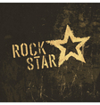 rock star grunge icon vector image vector image