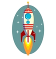 Rocket Space Ship On Blue Background vector image vector image