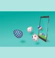 sale banner online shopping on mobile application vector image vector image