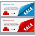 Sale banner with place for your text vector image vector image