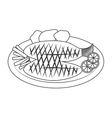 Seafood and gastronomy theme design vector image
