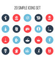 set of 20 editable hygiene icons includes symbols vector image vector image