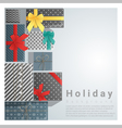 Set of gift boxes background on top view 2 vector image vector image