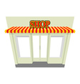 Shop Storefront with visor Isolated shop building vector image