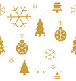 simple christmas seamless pattern with golden vector image vector image