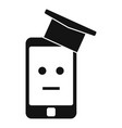 smartphone machine learning icon simple style vector image vector image