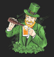 st patrick s day beer party green shamrock vector image vector image