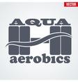 Symbol of Aqua Aerobics vector image
