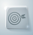 target Glass square icon vector image