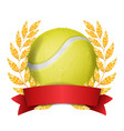 tennis award sport banner background vector image vector image