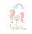 unicorn cute for kids vector image vector image