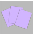 violet paper vector image vector image
