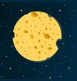 cheese moon vector image