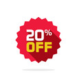 sale tag badge template 20 off sale label vector image