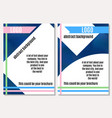 good brochure on advertising with bright elements vector image