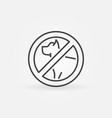 dog prohibition icon vector image
