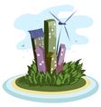 energy city vector image