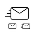 thin line envelope icons vector image