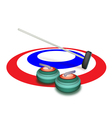 A Collection of Curling Stones on Ice vector image