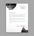 abstract black ink letterhead design vector image vector image