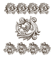 Baroque elements drawn by hand vector image vector image