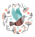 bird and berries vector image