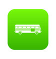 bus icon digital green vector image