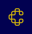 c initial logo vector image vector image