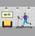 cartoon african american grandmother running vector image vector image