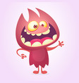 cartoon image of funny red devil monster vector image