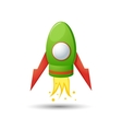 Cartoon rocket 3D vector image